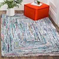 Safavieh Nantucket Hand-Tufted Blue Cotton Area Rug - 3' x 5'
