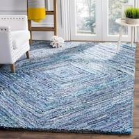 Safavieh Nantucket Hand-Tufted Blue Cotton Area Rug - 4' x 6'