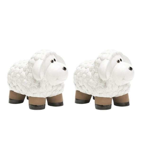 Alfresco Home Medium Ceramic Lamb- Lace White. Opens flyout.