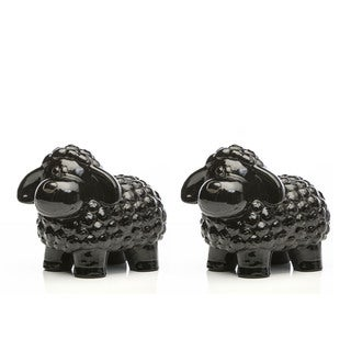 Alfresco Home Black Ceramic Sheep
