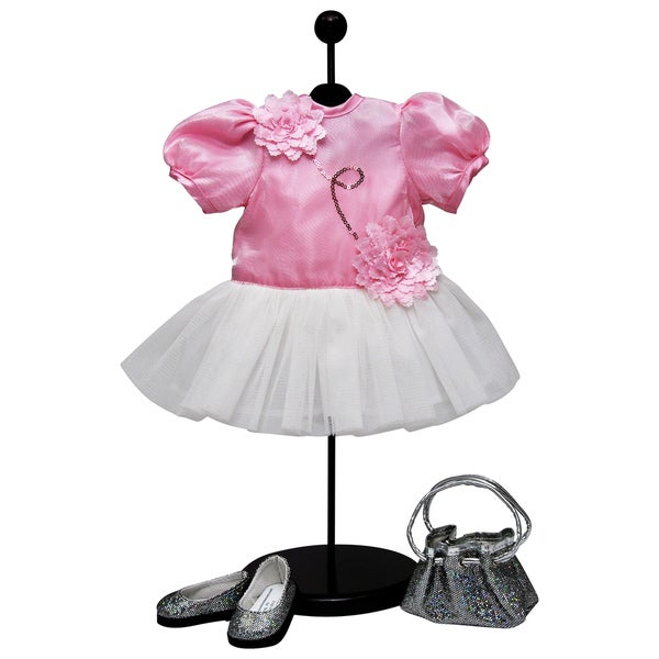 The Queen's Treasures Complete Pink Tutu Dress Clothes & Accessories Set for 18-inch Dolls