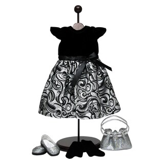 The Queen's Treasures Black & Silver Dress Outfit For 18-inch Dolls|https://ak1.ostkcdn.com/images/products/15126213/P21610898.jpg?_ostk_perf_=percv&impolicy=medium