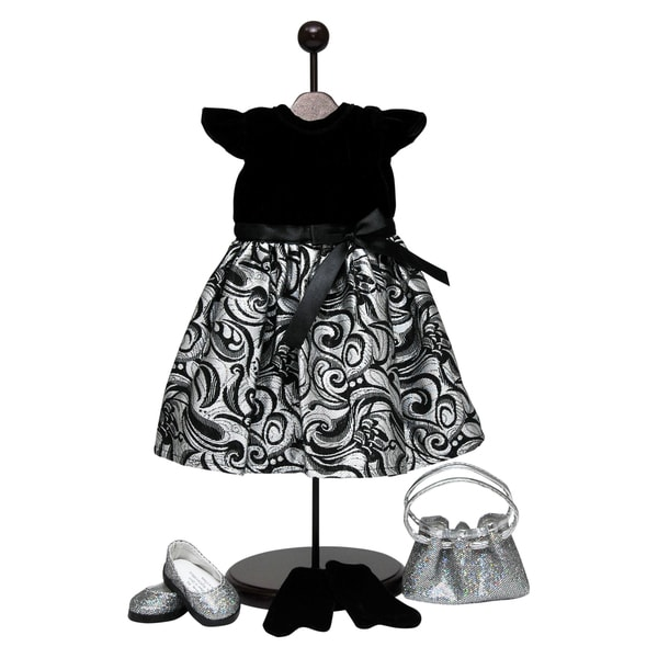 The Queen's Treasures Black & Silver Dress Outfit For 18-inch Dolls