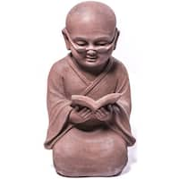Alfresco Home Reading Buddha Garden Statue