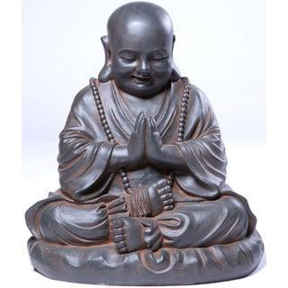 Alfresco Home Seated Buddha Resin Garden Statue