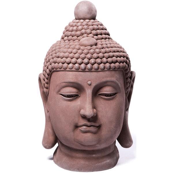 Alfresco Home Buddha Bust Garden Statue