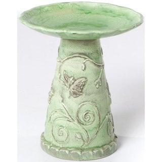 Alfresco Home Jardin Ceramic Bird Bath - Celadon