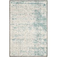 Safavieh Passion Watercolor Turquoise/ Ivory Distressed Area Rug - 3' x 5'