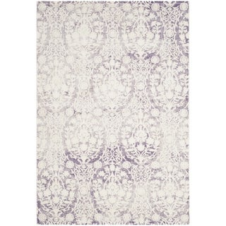 Safavieh Passion Watercolor Vintage Lavender/ Ivory Distressed Area Rug (3' x 5')