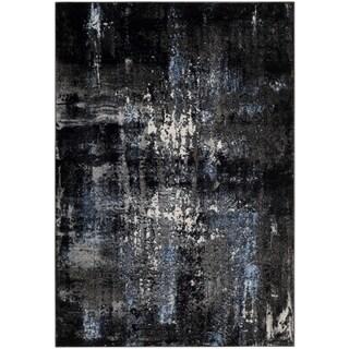 Safavieh Porcello Modern Abstract Grey/ Black Area Rug (3' x 5')