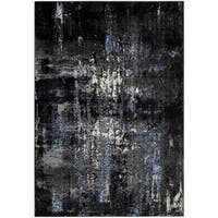 Safavieh Porcello Modern Abstract Grey/ Black Area Rug - 4' x 6'