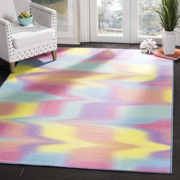 Safavieh Paint Brush Pink/ Yellow Area Rug - 3' x 5'