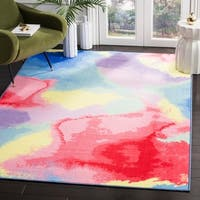 Safavieh Paint Brush Pink/ Yellow Area Rug - 3' X 5'