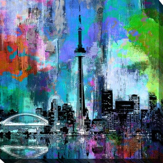 PPI Studio 'Toronto Skyline 5' Giclee Stretched Canvas Wall Art - Multi