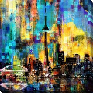 PPI Studio 'Toronto Skyline 4' Giclee Stretched Canvas Wall Art - Multi