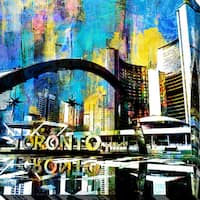 PPI Studio 'Toronto Nathan Phillips Square 6' Giclee Stretched Canvas Wall Art - multi