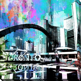 PPI Studio 'Toronto Nathan Phillips Square 5' Giclee Stretched Canvas Wall Art - Multi