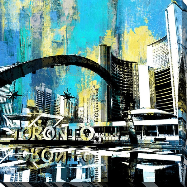 PPI Studio 'Toronto Nathan Phillips Square 2' Giclee Stretched Canvas Wall Art - Multi