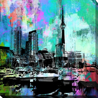 PPI Studio 'Toronto Harbour 5' Giclee Stretched Canvas Wall Art - Multi