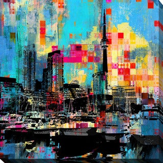 PPI Studio 'Toronto Harbour 4' Giclee Stretched Canvas Wall Art