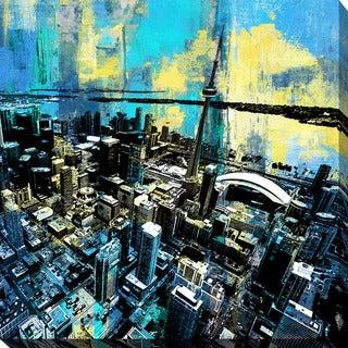 PPI Studio 'Toronto Birds Eye 2' Giclee Stretched Canvas Wall Art - Multi