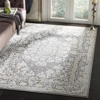 Safavieh Reflection Grey/ Cream Polyester Area Rug (3' x 5')