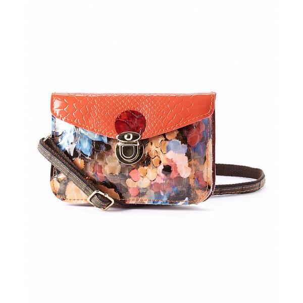 Diophy Mllecoco Crocodile-embossed Animal Print Leather Mini Crossbody Bag