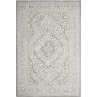 Safavieh Reflection Grey/ Cream Polyester Area Rug - 3' x 5'