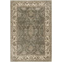 Safavieh Royalty Hand-Woven Wool Grey / Cream Area Rug - 4' x 6'