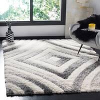 Safavieh Selarmo Shag Cream/ Grey Polyester Area Rug (4' x 6')
