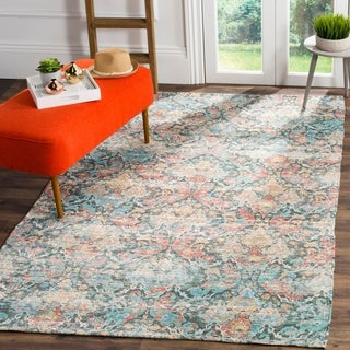 Safavieh Safran Handmade Pink/ Blue Cotton Area Rug - 3' x 5'