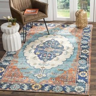 Safavieh Safran Handmade Blue/ Pink Cotton Area Rug - 3' x 5'
