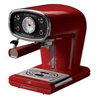 Espressione Café Retro Red Espresso Machine