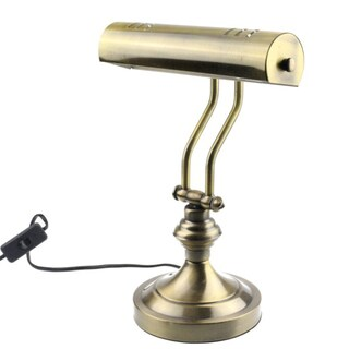 "RUDY Piano Desk Lamp 15""H, Satin Gold Finish- Elegant Home Accent and Perfect Gift"