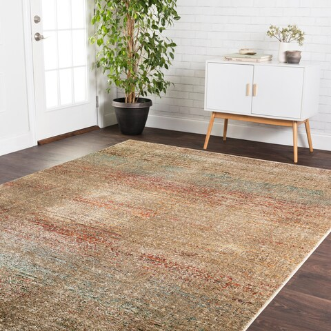Genova Grey/ Multi Rug (2'6 x 4') - 2'6 x 4'