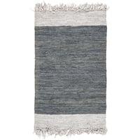 Safavieh Vintage Leather Hand-Woven Grey Area Rug - 3' x 5'