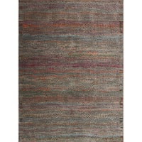 Genova Charcoal/ Sunset Rug - 3'7 x 5'2