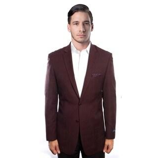 Tazio Men's wool Jacket Blazer Burgandy