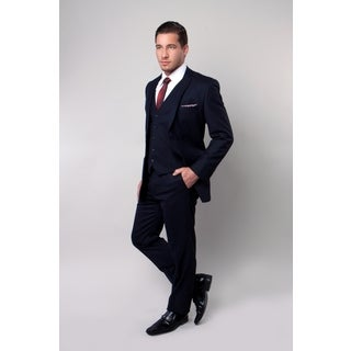 Tazio Men's 3 Piece Suit Navy
