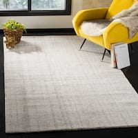 Safavieh Abstract Contemporary Hand-Tufted Grey Polyester Area Rug - 6' x 9'