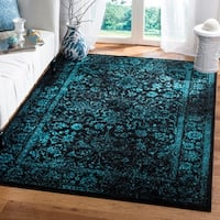 Safavieh Adirondack Vintage Distressed Black/ Teal Blue Area Rug - 6' x 9'