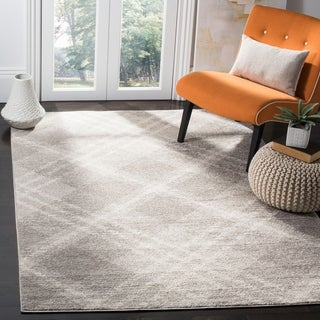 Safavieh Adirondack Contemporary Plaid Grey / Ivory Area Rug - 6' x 9'