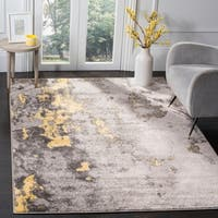 Safavieh Adirondack Modern Abstract Grey / Yellow Area Rug - 6' x 9'