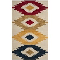 Safavieh Aspen Southwestern Hand-Tufted Ivory/ Multi Wool Area Rug - 5' x 8'
