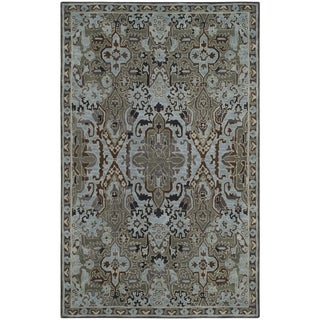 Safavieh Bella Transitional Hand-Tufted Blue/ Green Wool Area Rug (5' x 8')