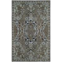 Safavieh Bella Transitional Hand-Tufted Blue/ Green Wool Area Rug - 5' x 8'
