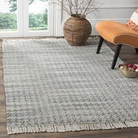 Safavieh Boston Coastal Grey/ Ivory Cotton Area Rug (6' x 9') - 6' x 9'