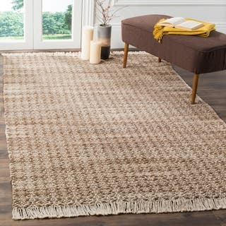Shop Hand Woven Organic Wheat Jute Area Rug 5 X 8 On