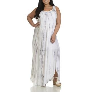 Chelsea & Theodore Plus Size Women's Tie Dye Maxi Dress