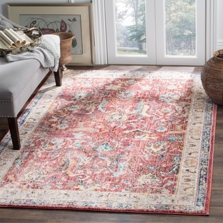 Safavieh Bristol Transitional Pink/ Grey Polyester Area Rug (6' x 9')
